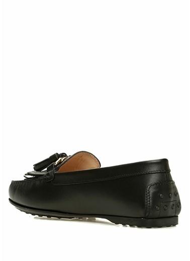 Tod's Deri Loafer Ayakkabı Siyah